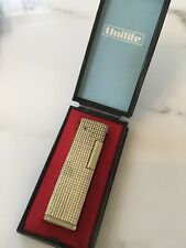 Gold Unilite Cigarette Butane Lighter -In Case- Colibri Dunhill Ronson Vintage