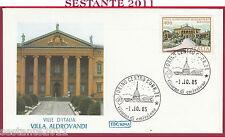 ITALIA FDC ROMA VILLE D'ITALIA VILLA ALDROVANDI MAZZACURATI 1985 TORINO Y895