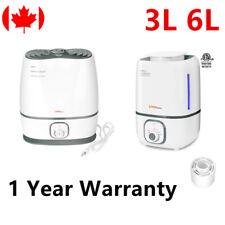 3L 6L Cool Mist Humidifier W/ Filter Stepless Control Gallon White LIVINGbasics