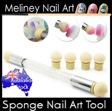 Sponge Tool Nail Art Manicure Pen Head Ball Pointy Technique Brush