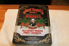 VINTAGE RARE JACK DANIELS OLD NO. 7 BRAND TIN HINGED BOX -- MADE IN ENGLAND