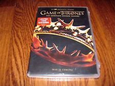 GAME OF THRONES: The Complete Second Season 2 (5-Disc DVD Set) New; I Ship Fast
