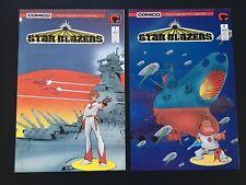 Star Blazers Comics #s 1 & 2 (Comico, 1987) - High Grade NM