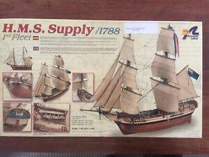 HMS Supply Model Boat Scale 1:56 Artesania Litina