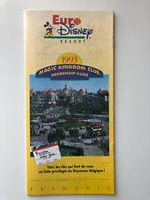 Euro Disney Resort Magic Kingdom Club Membership Guide 1993 - Guide Flyer