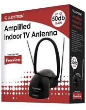 NEW Lloytron Amplified Digital TV Indoor Antenna Booster Aerial 50dB Gain FM DAB
