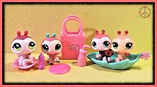 🌺 Littlest Pet Shop LPS Baby LADY BUGS #1017 1143 1474 2416 + Accessories LOT
