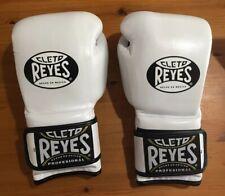 Cleto Reyes Hook & Loop Boxing Training Gloves, White, 16oz