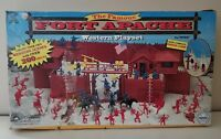 Marx Fort Apache Western Playset #4502 Cowboys Soldiers & Indian