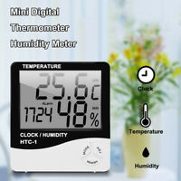 Digital LCD Electronic Thermometer Humidity Meter Home Indoor Clock Hygrometer