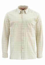 Simms Morada Long Sleeve Shirt Pale Khaki Plaid- Size 2XL -CLOSEOUT