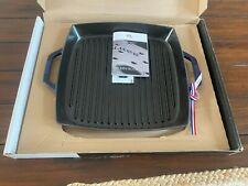 Staub cast iron 13-inch square double handle grill pan Dark Blue