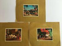 Vintage 1960's Paul Detlefsen Color Foil Etch Three Print Portfolio