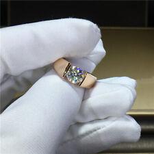 Ring D color Vvs 6.5mm 1.0carat 100% 14K Gold Moissanite Diamond man