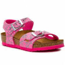 Birkenstock Kids Birko Flor Rio Reflective Lines Pink Bnib 1012630 1012631 Ss19