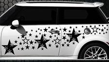 93-teiliges Sterne Star Auto Aufkleber Set Sticker Tuning Stylin Wandtattoo blum