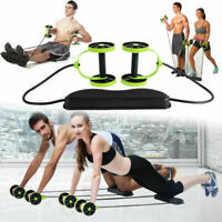 Double Wheels Ab Roller Abdominal Exercise Abs Core Trainer Workout Fitness