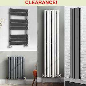 Traditional Cast Iron Flat Panel Oval Column Designer Radiator Heated Towel Rail