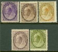 EDW1949SELL : CANADA 1898-1902 Scott #76, 80, 82-84 Mint Original Gum. Cat $1612