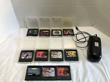 SEGA GAME GEAR GAME LOT & BATTERY PACK PAC MAN SPIDERMAN XMEN SONIC TAILS & MORE