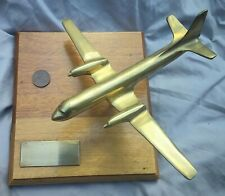 Vintage Brass Airplane Presented to Flt Lt John Peacook From H5 Sqn