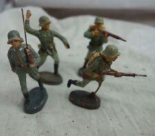 4 Wehrmacht Soldaten WW2 Elastolin