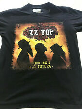 ZZ Top 2012 La Futura Tour with Lynyrd Skynyrd Black T-Shirt Men's Medium M
