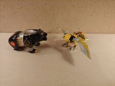 Bandai Power Rangers Wild Force Kongazord Figures Black Bear Gold Eagle