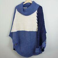 [ BEME ] Womens Knit Poncho  Jumper NEW | Size L / XL or AU 24 - 26