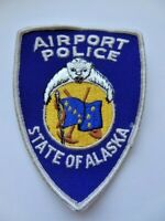 Vintage Airport Police State of Alaska Patch Cheese Cloth 90's? Used & Obsolete