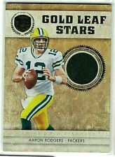 AARON RODGERS 2011 PANINI GOLD STANDARD GOLD LEAF STARS GAME USED JERSEY#/49