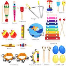 Musikinstrumente Set Kinder Percussion Rhythmus Spielzeug Lernspielzeug DE Neu