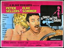 SHOT IN THE DARK 1964 Peter Sellers, Elke Sommer, George Sanders UK QUAD POSTER