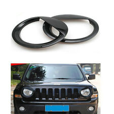 Jeep Patriot Angry Bird Style Bezels Front Light Headlight Trim Cover - Pair
