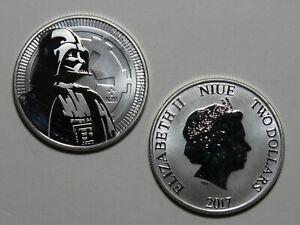 2017 Niue $2 Darth Vader - Star Wars - 1 oz 999 Silver