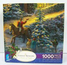 Thomas Kinkade 1000 piece Puzzle Christmas Tree 27 x 20 Horse Painter of Light