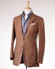 NWT $6195 KITON Lightweight Unstructured Tan Wool-Silk Sport Coat 38 R (Eu 48)
