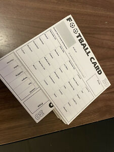 Football Scratch Cards 30 Teams Pack of 10 Fundraising Scratch Cards Charity