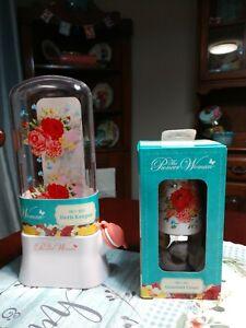 Pioneer woman Sweet Rose Set Glass Cruet & Herb Keeper