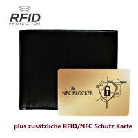 Geldbörse Geldbeutel Leder RFID Brieftasche Portmonee - Portemonnaie Geldtasche