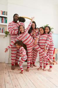 PRIMARK CHRISTMAS FAIRISLE FAMILY MATCHING PYJAMAS BABY KIDS ADULTS DOG RED