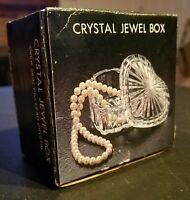 SHIAH Glass Jewelry Box Lid Heart Shaped Lead Crystal 24% Pbo VTG Gift Trinket