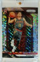 Rare: 2018-19 Prizm Trae Young Fast Break Silver Prizm Refractor Rookie RC #78