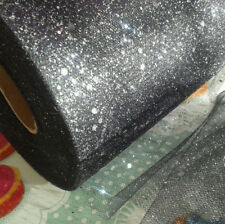 "Tulle glitter 1m 2 5 10m metre 65 colours 6"" 15cm sparkle NET crafts fabric tutu"