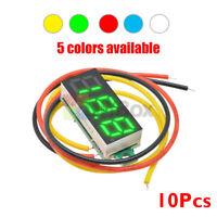 """10 PCS Mini DC 0-100V 0.28"""" 3-Digital Voltmeter LED Voltage Panel Meter 3-Wires"""