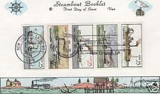 VAN NATTA 1989 STEAMBOAT BOOKLET PANE HAND PAINTED HP FIRST DAY COVER FDC