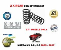 FOR MAZDA MX5 1.8 2.0 CONVERTIBLE 2005-12/2007 2X REAR COIL SPRING SET N13328011