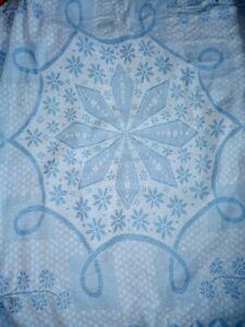 Vintage Retro Mandala Print Old Double Blue Bed Throw Thick Cotton Blanket Throw