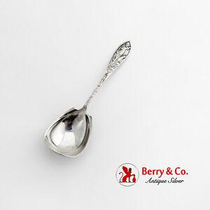 Yellowstone Park Souvenir Sugar Spoon C M Robbins Pearl Silver 1910