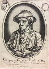 Éléonore de Habsbourg Autriche François 1er MONCORNET  Fontainebleau XVIIe rare